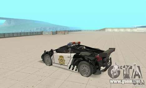Lamborghini Gallardo Cop V1.0 pour GTA San Andreas vue de droite
