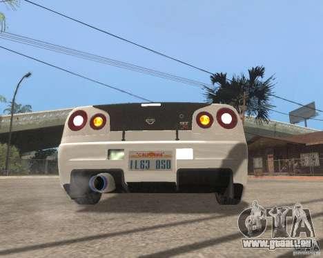 Nissan Skyline R-34 TUNED für GTA San Andreas rechten Ansicht