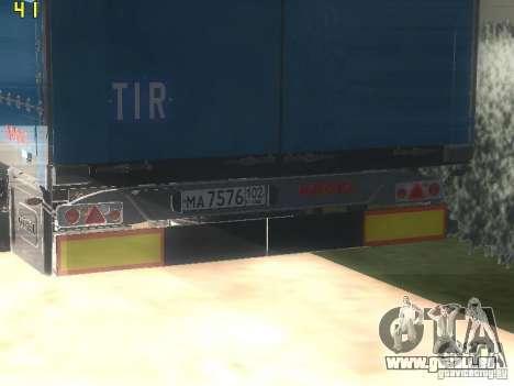 Nefaz-93341 remorque-10-07 pour GTA San Andreas vue de droite