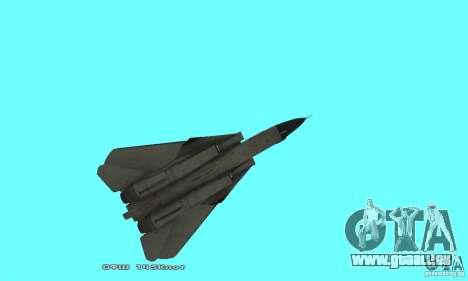 F14W Super Weirdest Tomcat Skin 2 pour GTA San Andreas vue de côté