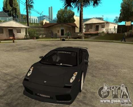 Lamborghini Gallardo HAMANN Tuning pour GTA San Andreas vue arrière