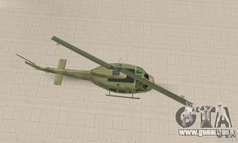 UH-1 Iroquois (Huey) pour GTA San Andreas vue de droite