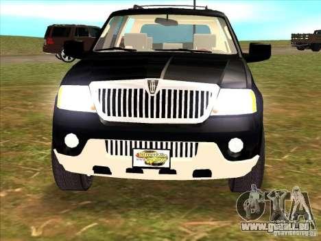 Lincoln Navigator pour GTA San Andreas vue arrière