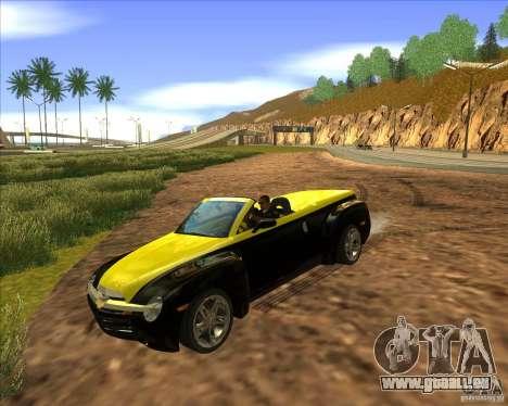 Chevrolet SSR pour GTA San Andreas vue arrière