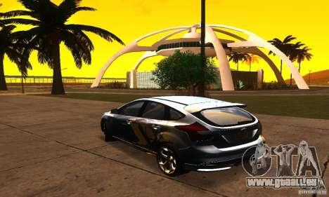 Ford Focus 3 pour GTA San Andreas laissé vue
