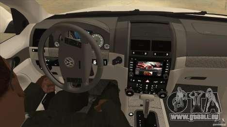 Volkswagen Touareg R50 pour GTA San Andreas vue de côté