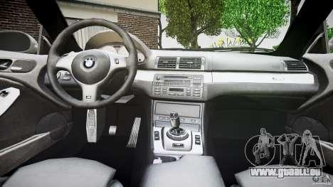 BMW M3 e46 v1.1 pour GTA 4 est une vue de dessous