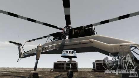 SkyLift Helicopter für GTA 4 Rückansicht