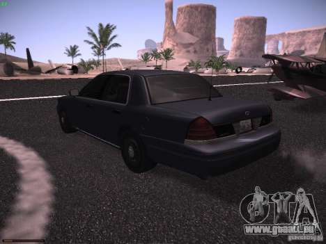Ford Crown Victoria 2003 für GTA San Andreas zurück linke Ansicht