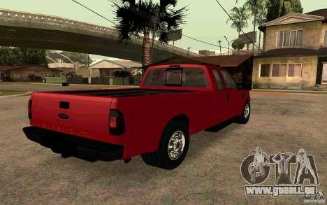 Ford F250 Super Dute für GTA San Andreas zurück linke Ansicht