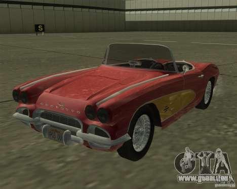 Chevrolet Corvette 1961 pour GTA San Andreas