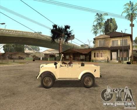 GAZ 69 A pour GTA San Andreas sur la vue arrière gauche
