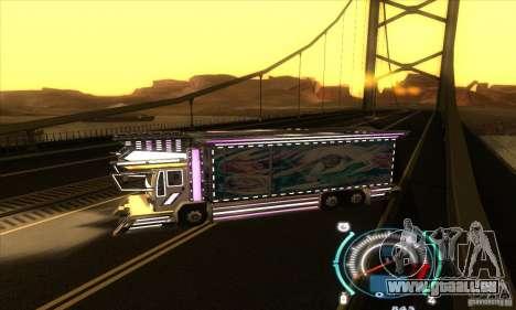 Camion japonaise pour GTA San Andreas laissé vue