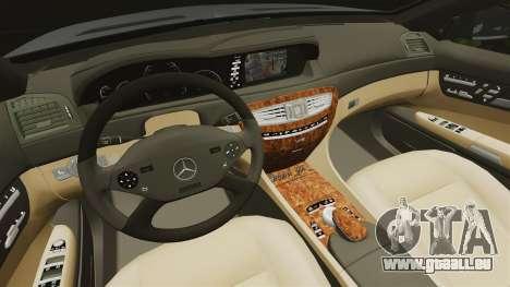 Mercedes-Benz CL65 AMG v1.1 pour GTA 4 est une vue de l'intérieur