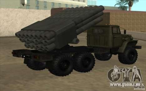 Ural 4320 Grad v2 pour GTA San Andreas laissé vue