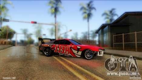 Toyota Supra HELL für GTA San Andreas zurück linke Ansicht