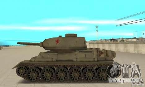 Réservoir T-34-85 pour GTA San Andreas laissé vue