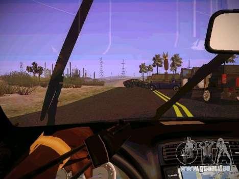 Lexus I SF pour GTA San Andreas vue intérieure