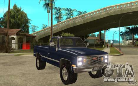 GMC Sierra 1986 für GTA San Andreas Rückansicht