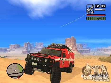 HZS Hummer H2 pour GTA San Andreas vue de droite