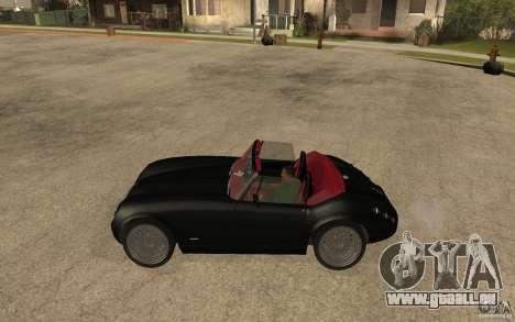 Wiesmann Roadster MF3 pour GTA San Andreas laissé vue