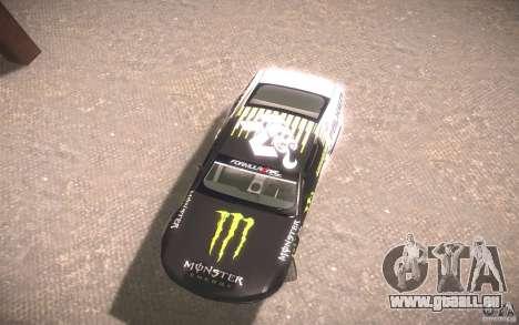 Ford Mustang Monster Energy pour GTA San Andreas sur la vue arrière gauche