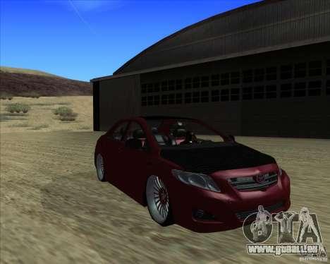 Toyota Corolla 2008 Tuning pour GTA San Andreas sur la vue arrière gauche