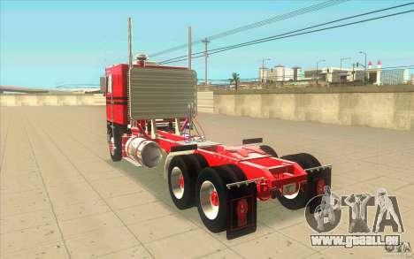 Kenworth K100 Extended Wheel Base für GTA San Andreas zurück linke Ansicht