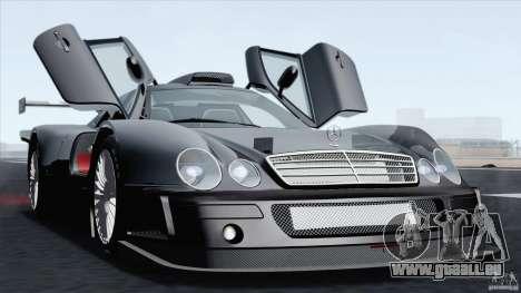 Mercedes-Benz CLK GTR Race Car für GTA San Andreas rechten Ansicht