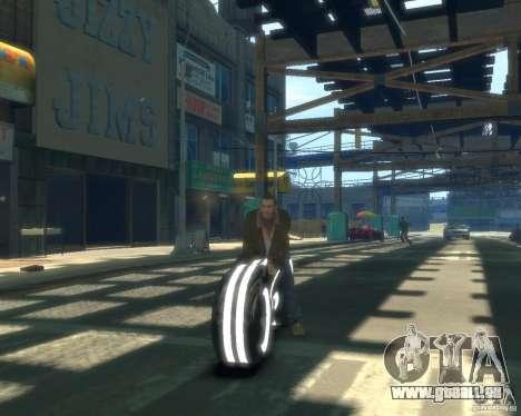 Moto du trône (néon gris) pour GTA 4