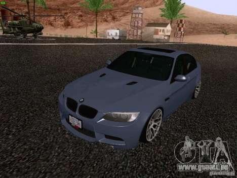 BMW M3 E90 Sedan 2009 pour GTA San Andreas vue de droite