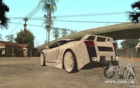 Lamborghini Gallardo MW für GTA San Andreas zurück linke Ansicht