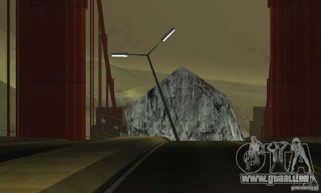 Pont détruit à San Fierro pour GTA San Andreas cinquième écran