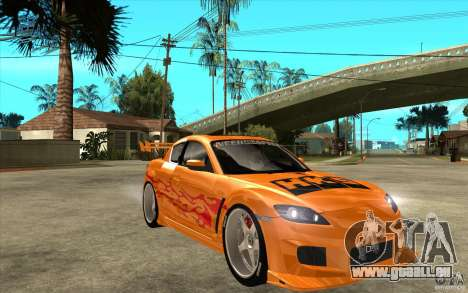 Mazda RX8 Underground Tuning pour GTA San Andreas vue arrière