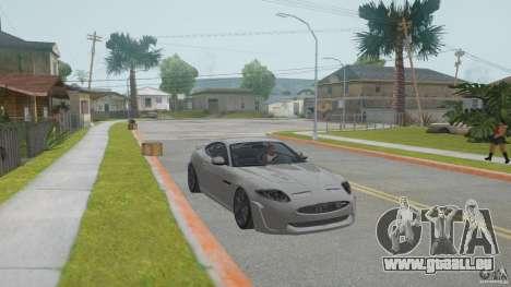 Jaguar XKR-S pour GTA San Andreas vue arrière