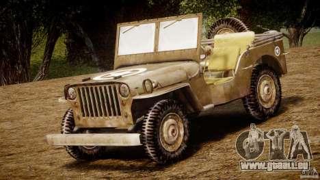 Jeep Willys [Final] pour GTA 4 est une gauche