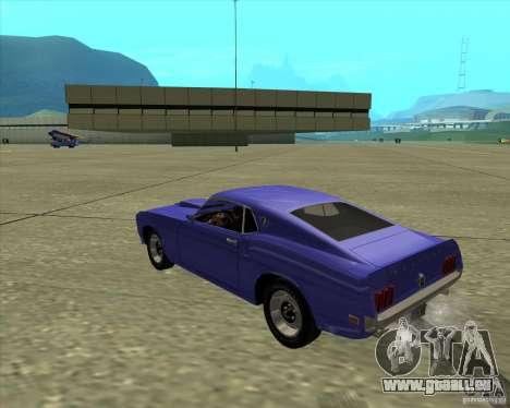 Ford Mustang Boss 429 1969 pour GTA San Andreas vue de droite