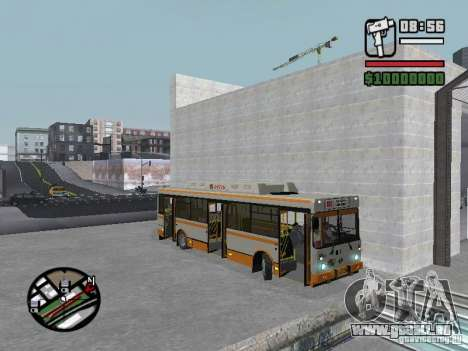 LIAZ 5283.70 pour GTA San Andreas vue intérieure