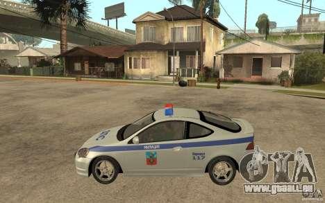 Acura RSX-S DPS ville de Barnaoul pour GTA San Andreas laissé vue