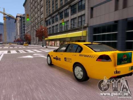 Holden NYC Taxi V.3.0 pour GTA 4 Vue arrière