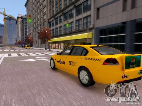Holden NYC Taxi V.3.0 für GTA 4 Rückansicht