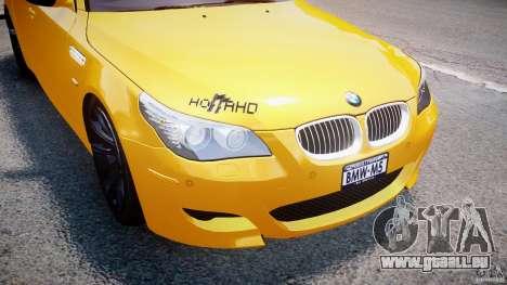 BMW M5 E60 2009 pour GTA 4 roues