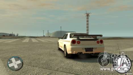 Nissan Skyline GTR R34 Mine s für GTA 4 linke Ansicht