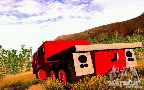 MAZ-7310 civile Version étroite pour GTA San Andreas sur la vue arrière gauche