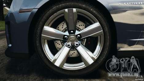 Chevrolet Camaro ZL1 2012 v1.0 Smoke Stripe pour GTA 4 est une vue de dessous