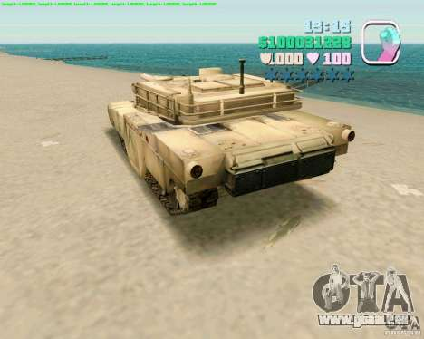 M 1 A2 Abrams für GTA Vice City Screenshot her