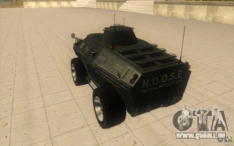 APCS von GTA 4 TBOGT Original mit Textur für GTA San Andreas zurück linke Ansicht