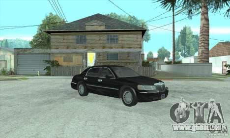 Lincoln Town Car 2002 für GTA San Andreas zurück linke Ansicht