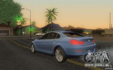 BMW 6 Series Gran Coupe 2013 pour GTA San Andreas laissé vue
