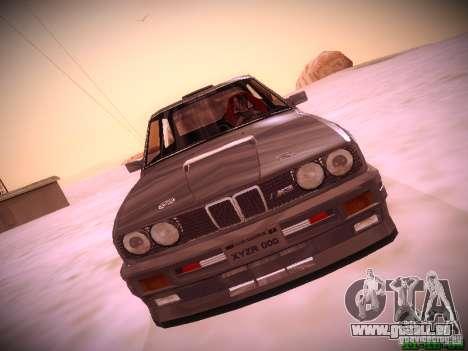 BMW M3 Drift für GTA San Andreas zurück linke Ansicht